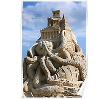 Sand Sculpture ~ a Tribute to Jules Verne Poster