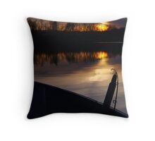 Sunset on the lake Throw Pillow