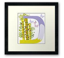 """Letter """"D"""" Siacabuche Alphabet (Vector) Framed Print"""