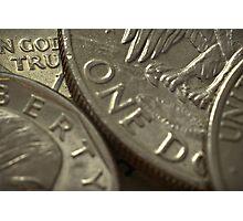 semi rare silver coins Photographic Print
