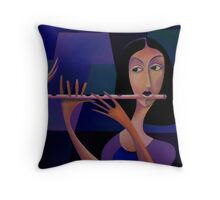 FLUTE WALK Throw Pillow