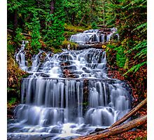 Beautiful Autumn day at Wagner Falls  Photographic Print