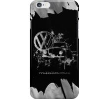 Volkswagen Beetle Splash BW iPhone Case/Skin