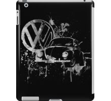 Volkswagen Beetle Splash BW iPad Case/Skin
