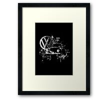 Volkswagen Beetle Splash BW © Framed Print