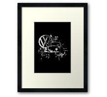 Volkswagen Beetle Splash BW © Framed Print