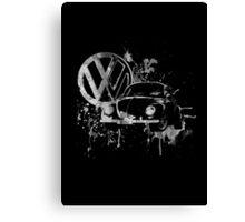 Volkswagen Beetle Splash BW © Canvas Print