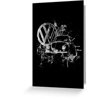 Volkswagen Beetle Splash BW © Greeting Card