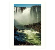 Down the Throat - Iguazu Gorge Art Print