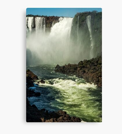 Down the Throat - Iguazu Gorge Canvas Print