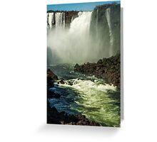 Down the Throat - Iguazu Gorge Greeting Card