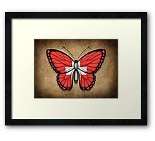 Swiss Flag Butterfly Framed Print