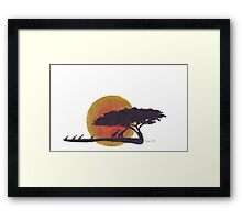 African Sunset silhouettes Framed Print