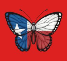 Texas Flag Butterfly Baby Tee