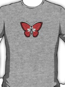 Swiss Flag Butterfly T-Shirt