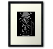 Death by Decaf Framed Print