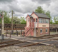 Signal Box at Northiam Station Kent, Uk by Pauline Tims
