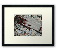 Crimson Tracks Framed Print