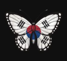 South Korean Flag Butterfly Kids Clothes