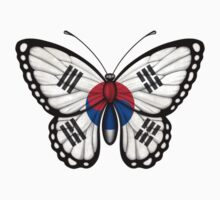 South Korean Flag Butterfly Kids Tee