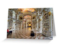 Admont Benedictine Monastery - Library Greeting Card