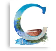 "Letter ""C"" Siacabuche Alphabet (Painting) Canvas Print"
