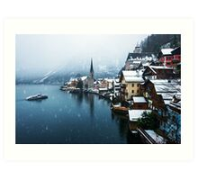 Winter in Hallstatt, Austria Art Print