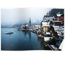Winter in Hallstatt, Austria Poster