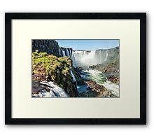 Around the Throat - Iguazu Falls Framed Print