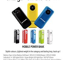 Buy Mobile Power Bank - Charge on the GO.....! by esyindia