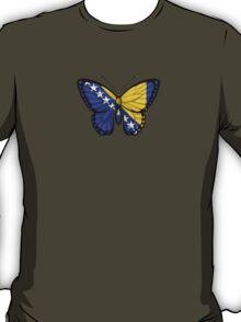 Bosnia - Herzegovina Flag Butterfly T-Shirt
