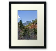 Look at the mountain, Mommy! Framed Print