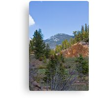 Look at the mountain, Mommy! Canvas Print