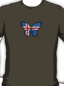Icelandic Flag Butterfly T-Shirt