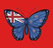 New Zealand Flag Butterfly One Piece - Short Sleeve