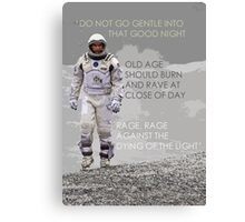 Interstellar Dylan Thomas Quote Wall Art - Typography Canvas Print
