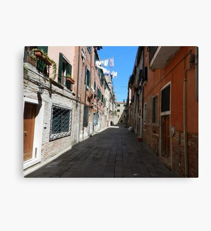 Arsenal alley, Venice Canvas Print