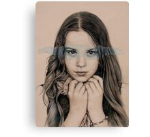 girl in grey Canvas Print