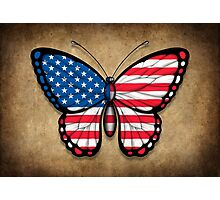 American Flag Butterfly Photographic Print