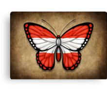 Austrian Flag Butterfly Canvas Print