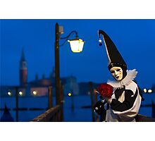 Mask at the Venice Carnival, Italy Photographic Print