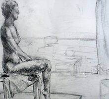Figure Drawing by Beka Judd