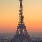 Sunset at the Eiffel Tower in Paris, France by Yen Baet