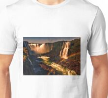 Rainbow over the River - Fiery Night Artistic Unisex T-Shirt