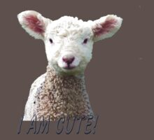 I am Cute - Kids T-Shirt - Lamb - NZ - Southland One Piece - Short Sleeve