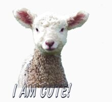 I am Cute - Kids T-Shirt - Lamb - NZ - Southland Kids Clothes