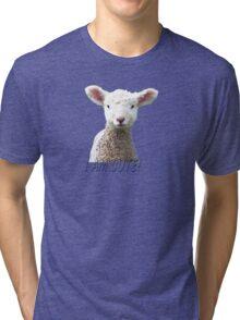 I am Cute - Kids T-Shirt - Lamb - NZ - Southland Tri-blend T-Shirt