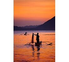 Sunset at Taal Lake, in Talisay, Philippines Photographic Print