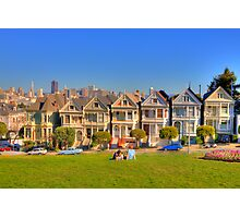 "San Francisco ""Painted Ladies"" Photographic Print"