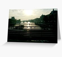 the seine Greeting Card